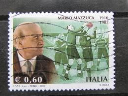 *ITALIA* USATO 2010 - CENTENARIO MAZZUCCA - SASSONE 3209 - LUSSO/FIOR DI STAMPA - 6. 1946-.. Repubblica