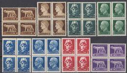 ITALIA - 1929/1930 - Lotto Composto Da 8 Quartine Nuove MNH: Yvert 224, 226, 227, 229, 231, 234, 236 E 238. - 1900-44 Victor Emmanuel III.