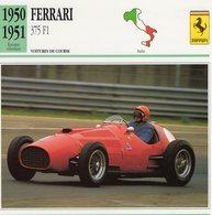 Ferrari 375 F1 Grand Prix   -  Voiture De Course   -  Fiche Technique/Carte De Collection - Grand Prix / F1