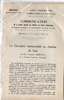 Plaquette:LE GAZOGENE TRANSPOPRTABLE AU CHARBON DE BOIS (conf De 1925) (PPP11504) - Dokumente