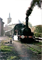 88 SNCF LE CHEMIN DE FER A VAPEUR DU RABODEAU AVEC LA HOHENZOLLERN 020 T 2 EN GARE DE MOYENMOUTIER - Railway