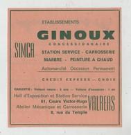 Publicité  Ginoux Simca Valréas - Werbung