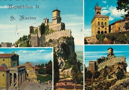 AK San Marino - Mehrbildkarte - Prima Torre - Palazzo Del Governo - La Pieve - 1970 (45949) - Saint-Marin
