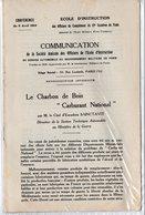 Plaquette: LE CHARBON DE BOIS CARBURANT NATIONAL (conf De 1924) (PPP11507) - Documentos