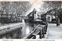 (133)  CPA  Haguenau Partie De La Place Du Marché Aux Bles - Haguenau