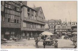 EP 23 -  (51)  REIMS  -  PLACE DU MARCHE -  COMMERCES -  ETALS  -  2 SCANS - Reims