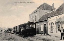 Heyst-Op-Den-Berg De Tramstatie La Gare Du TRAM à Vapeur Très Belle Carte - Heist-op-den-Berg