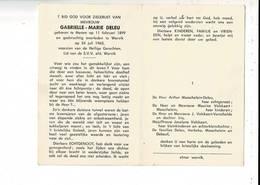 DP 9474 - GABIELLE DELEU - MENEN 1899 + WERVIK 1963 - Andachtsbilder