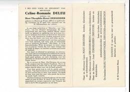 DP 9475 - CELINE DELEU - DERUDDER - MENEN 1880 + 1970 - Andachtsbilder