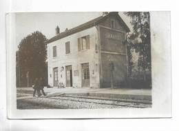 52 - RARE Carte-photo Non Titrée Mais Il S' Agit Bien De La Gare De MAATZ - Autres Communes