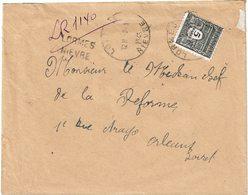 LCTN59/LE/DIV2 - ARC DE TRIOMPHE 5fr 1ére SERIE SEUL SUR RECOMMANDE PROVISOIRE LORMES 8/1/1945 - 1944-45 Arco Del Triunfo