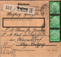 ! 1935 Paketkarte Deutsches Reich, Wegberg Kreis Erkelenz  Nach Wermsdorf SA Reit Und Fahrschule - Allemagne
