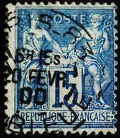 -Sage N°90 Type Ll. O .(CAD ) PARIS R BLEUE 20 FEVR 1900 ( Bur 83 ) - 1876-1898 Sage (Type II)