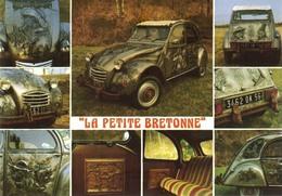 """2 CV CITROEN - Sculptée Par GILL'S Manias - D 56 CAMORS - """"La Petite Bretonne"""" - Non Voyagée - Ed. Du Gabier - Voitures De Tourisme"""