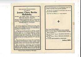 DP 9479 - JEANNE HOLLEBEKE - MENEN 1879 + WEVELGEM 1950 - Andachtsbilder
