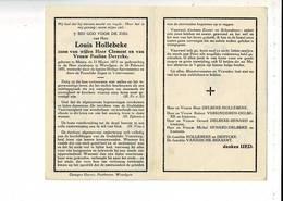 DP 9480 - LOUIS HOLLEBEKE - MENEN 1873 + WEVELGEM 1951 - Andachtsbilder