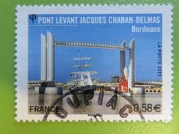 Timbre France YT 4734 - Pont Levant Jacques Chaban-Delmas (Bordeaux) - Voiliers Sous Le Pont - 2013 - Cachet Rond - Francia