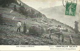 Suisse  -  Aux Champs à MEDIERE  -   Editeurs CHOCOLAT KLAUS - VS Valais