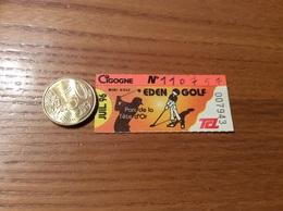 """Ticket De Transport (Bus, Métro, Tramway) TCL Abonnement """"JUIL. 96 - CIGOGNE - EDEN GOLF"""" LYON (69) - Europe"""