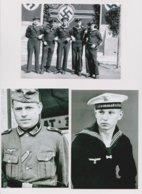 3 -  Photographies De La Guèrre 1939-45 Militaires  Allemandes - Krieg, Militär