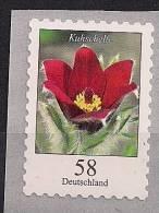 "2012  Deutschland  Allem. Fed. Mi. 2971 **MNH  Coil Stamp  Blumen : Rotblühende Kuhschelle (Pulsatilla Vulgaris ""Rubra"") - BRD"