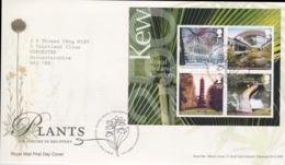 Great Britain FDC 2009 KEW Garden Plants Souvenir Sheet - Tallents House (NB**LAR6-17) - FDC