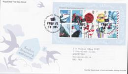 Great Britain FDC 2010 Smilers Business & Consumer Souvenir Sheet - Tallents House (NB**LAR6-17) - FDC