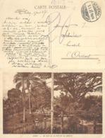 "AK  ""Gabon - Un Coin De La Station De Samkita""  (Bahnstempel)        1928 - Lettres & Documents"