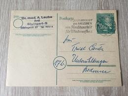 GÄ32087 BRD Ganzsache Stationery Entier Postal  PSo 1 Mit Mwst. Von Stuttgart - [7] République Fédérale