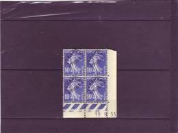 PREO N° 52 - 10c SEMEUSE - L De K+L - 3° Tirage Du 17.9.35 Au 1.10;35 - 19.09.1935 - - Esquina Con Fecha