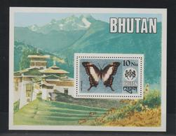 Bhoutan 1975 Papillons BF 63 ** MNH - Bhutan