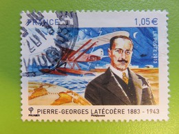 Timbre France YT 4794 - Pierre-Georges Latécoère - Globe Terrestre, Hydravion Et Portrait - 2013 - Cachet Rond - Oblitérés