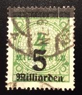 """1923 Mi 333A Spektakuläre Abart """"5 MILLIARDEN UNTEN"""" Gepr. INFLA BPP, RARITÄT  ! (Deutsches Reich Inflation - Deutschland"""