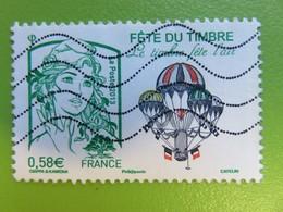 Timbre France YT 4809 - Le Timbre Fête L'air - Marianne Verte Et Montgolfière Peinte Par Eugène Godard - 2013 - Used Stamps