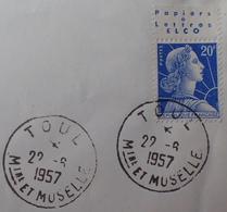 R1949/1555 - TYPE MARIANNE DE MULLER - N°1011B (II) BdF Avec Publicité (sur ✉️) - Publicités