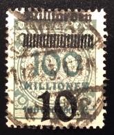 """1923 Mi 337  Spektakuläre Abart """"10 MILLIARDEN UNTEN"""" Gepr. INFLA BPP, RARITÄT  ! (Deutsches Reich Inflation - Deutschland"""