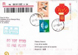 Chine China 2011 Lettre Anhui France - 1949 - ... République Populaire