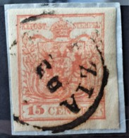AUSTRIA / LOMBARDO-VENEZIA 1850/54 - VENEZIA Cancel - ANK LV3 - 15 Centes - 1850-1918 Imperium