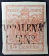 AUSTRIA / LOMBARDO-VENEZIA 1850/54 - MADDALENA Cancel - ANK LV3 - 15 Centes - 1850-1918 Imperium
