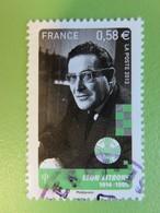 Timbre France YT 4812 - Personnages Célèbres - Les Pionniers De La Télévision - Léon Zitrone - 2013 - Cachet Rond - Oblitérés