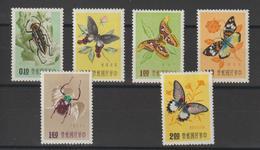 Taiwan 1958 Papillons 249-54 6 Val ** MNH - 1945-... Repubblica Di Cina