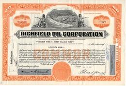 Titre De Bourse Made In USA - RICHFIELD OIL CORPORATION - 1962. - Oil
