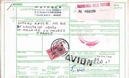 Declaration Douane Casablanca France Colis Postaux Avion 2000 - Marokko (1956-...)