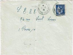 LCTN59/LE/DIV2 - LETTRE DU CAMP ST CYPRIEN 21/8/1939 - Franchise Militaire (timbres)