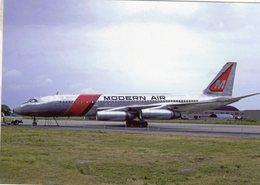 Modern Air  -  Convair 990A  -  N5607C  C/n 16    -  CPM - 1946-....: Moderne