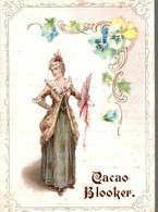 Chromo  CACAO BLOOKER  Femme Et  Son Ombrelle - Autres