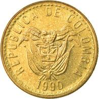 Monnaie, Colombie, 20 Pesos, 1990, SUP, Aluminum-Bronze, KM:282.1 - Colombie