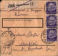 ! 1933 Paketkarte Deutsches Reich, Wuppertal Barmen Nach Mühlau - Briefe U. Dokumente