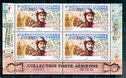 France PA  74a Henri Pequet Bloc De 4 Coin Daté  Neuf ** TB MNH Sin Charnela - Posta Aerea