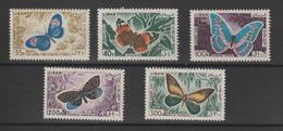 Liban 1965 Papillons PA 333,334,338,340 Et 341 5 Val ** MNH - Lebanon